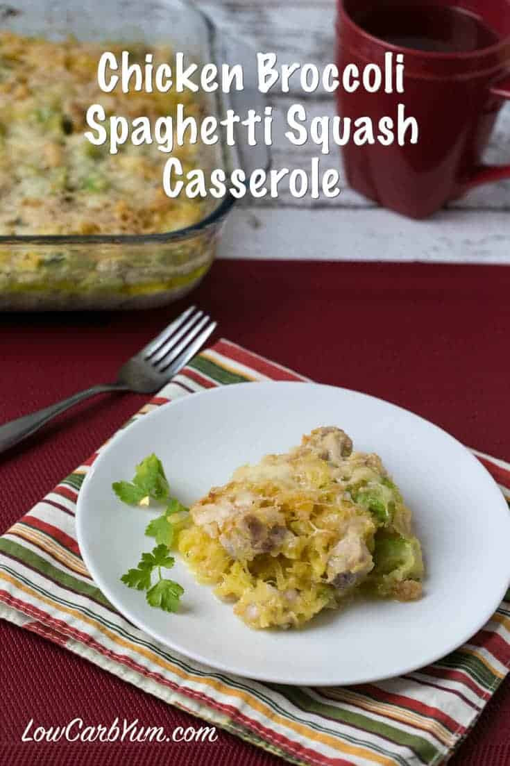Easy Chicken Spaghetti Casserole  Chicken Spaghetti Squash Casserole