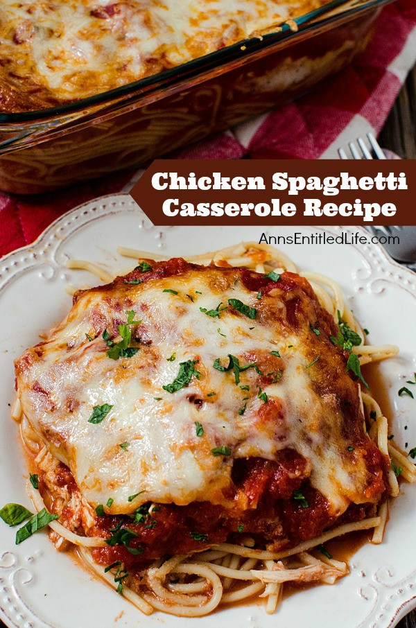 Easy Chicken Spaghetti Casserole  Chicken Spaghetti Casserole Recipe