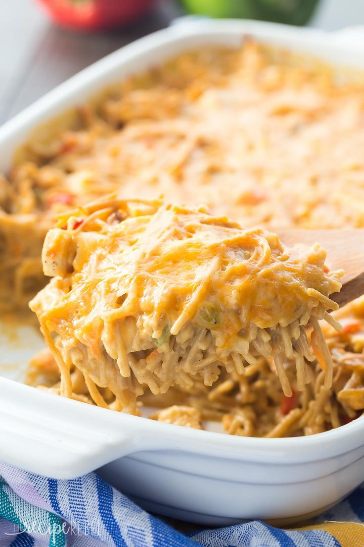 Easy Chicken Spaghetti Casserole  746 best From The Recipe Rebel images on Pinterest