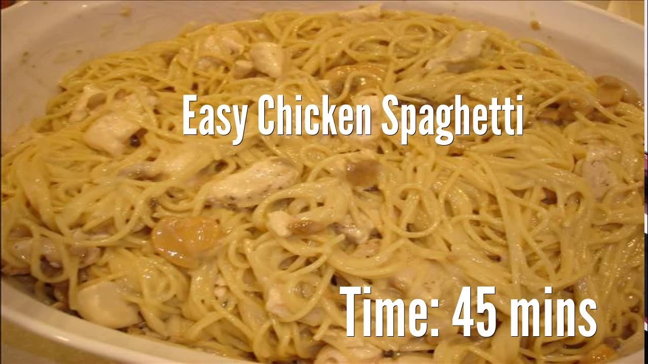 Easy Chicken Spaghetti Casserole  chicken spaghetti easy