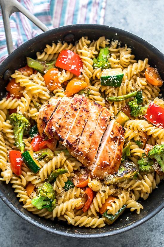 Easy Chicken Spaghetti  Easy Chicken Pasta Primavera thestayathomechef