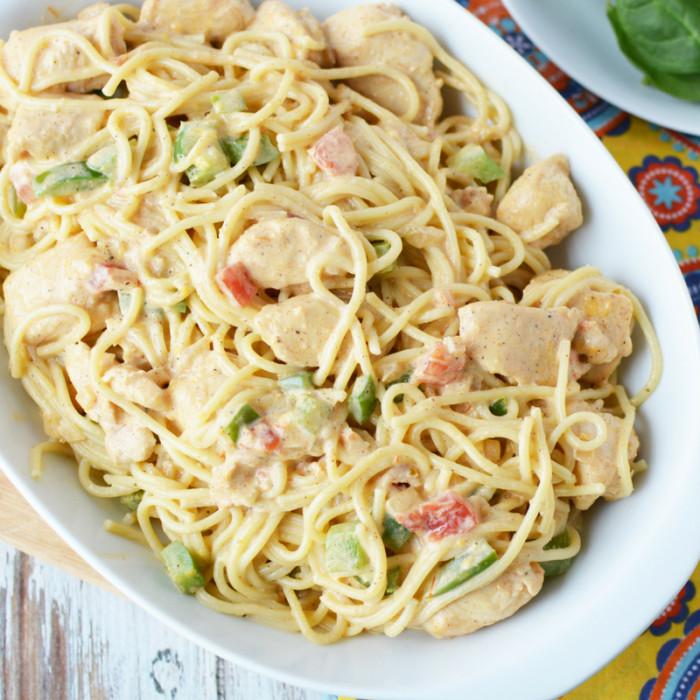 Easy Chicken Spaghetti  Skinny Chicken Spaghetti Recipe