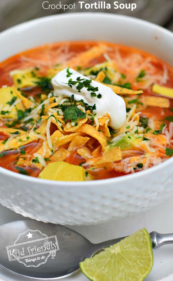 Easy Chicken Tortilla Soup Recipe  Easy and Healthy Slow Cooker Chicken Tortilla Soup Recipe