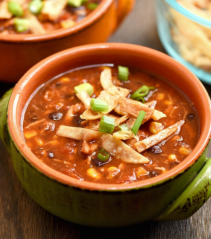 Easy Chicken Tortilla Soup Recipe  Easy Chicken Tortilla Soup ion Rings & Things