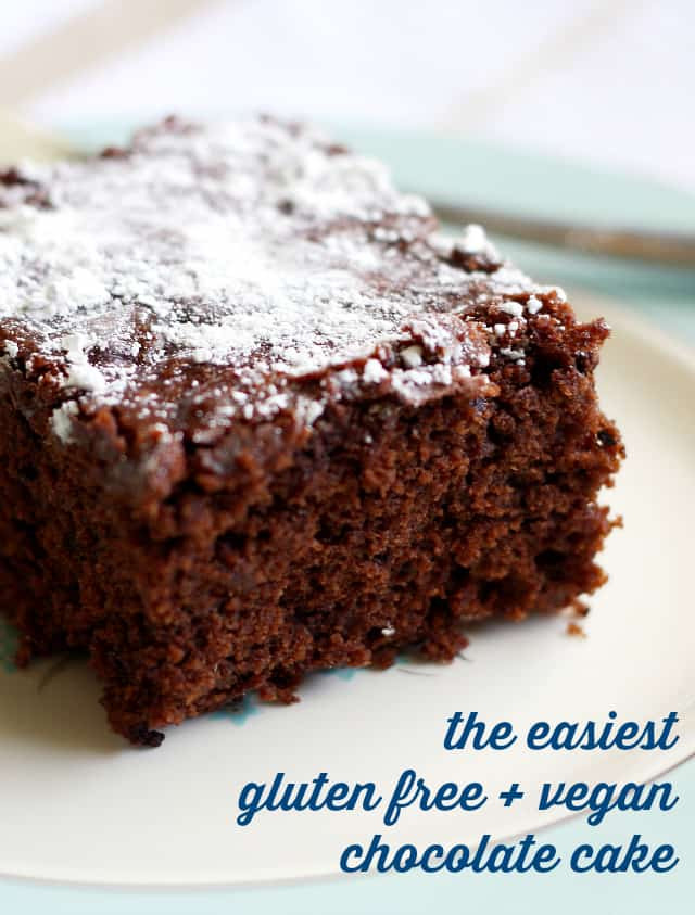 Easy Chocolate Cake Recipes  The Easiest Gluten Free and Vegan Chocolate Cake The