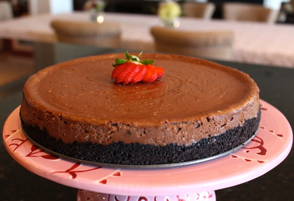 Easy Chocolate Cheesecake Recipe  Easy Homemade Chocolate Oreo Cookie Crust Cheesecake Recipe