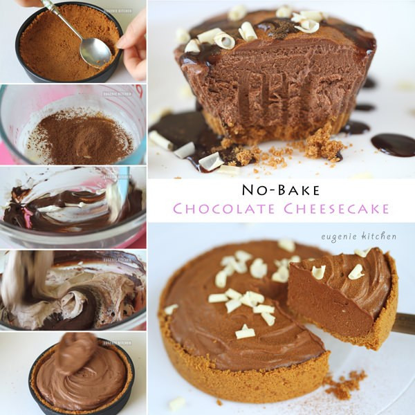 Easy Chocolate Cheesecake Recipe  No Bake Chocolate Cheesecake Recipe Eugenie Kitchen