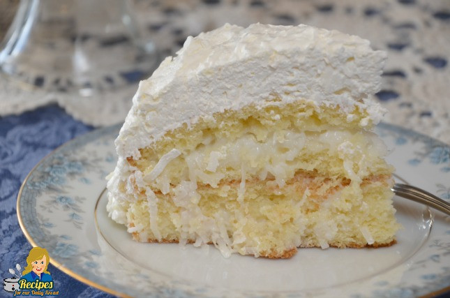Easy Coconut Dessert Recipes  SCRUMPTIOUS EASY COCONUT CAKE 5 SIMPLE INGREDIENTS