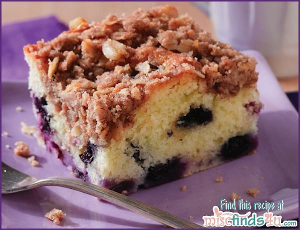 Easy Coffee Cake  Recipes Easy Blueberry Coffee Cake Recipe with Streusel