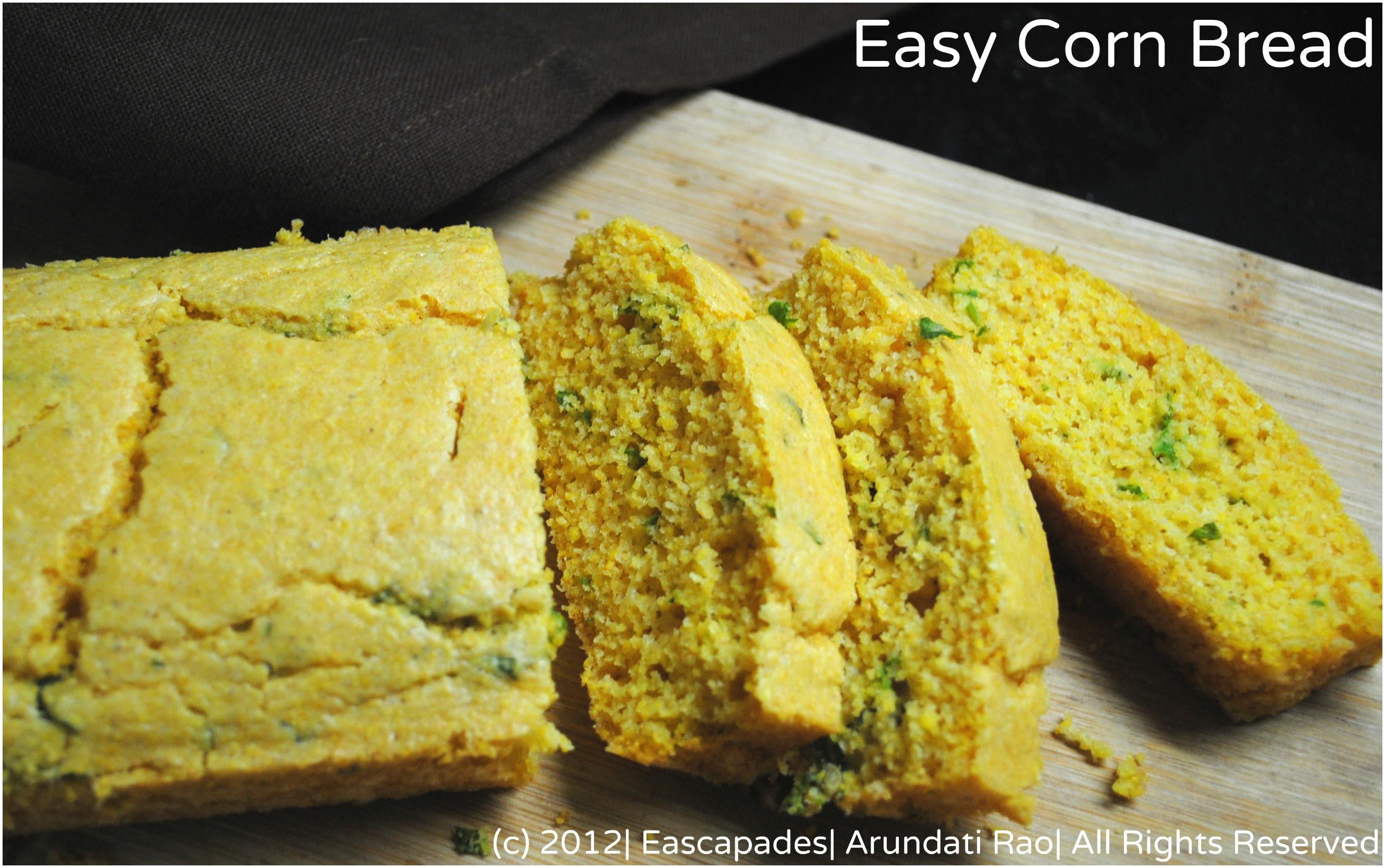 Easy Corn Bread  Baking Savoury Corn Bread – Escapades