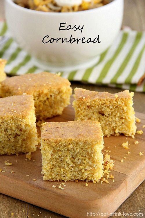 Easy Corn Bread  Easy Cornbread Recipe — Dishmaps