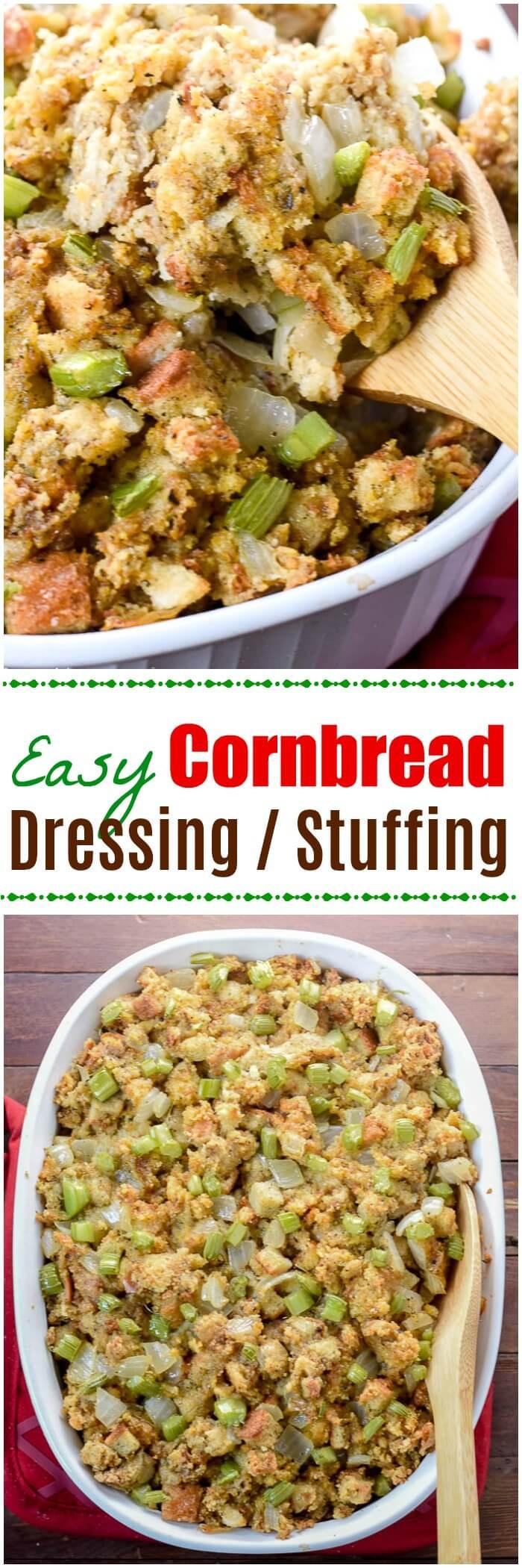 Easy Cornbread Dressing  Easy Cornbread Dressing Flavor Mosaic