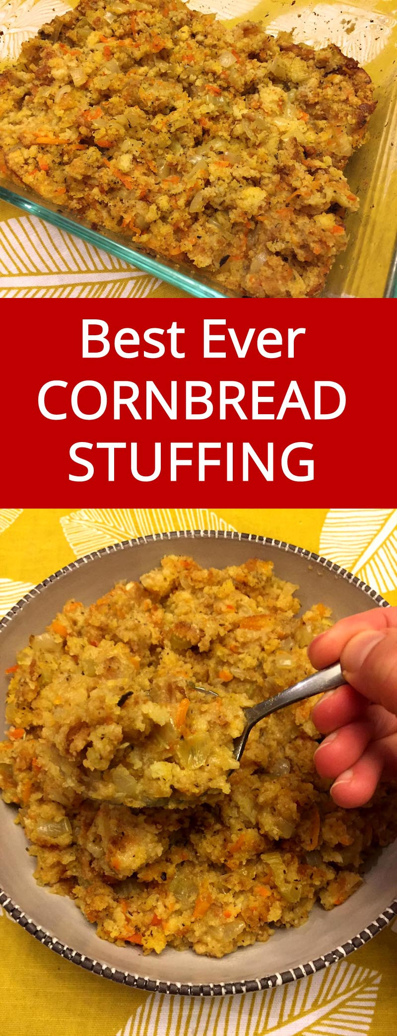 Easy Cornbread Dressing  Easy Cornbread Stuffing – Best Ever Dressing Recipe For