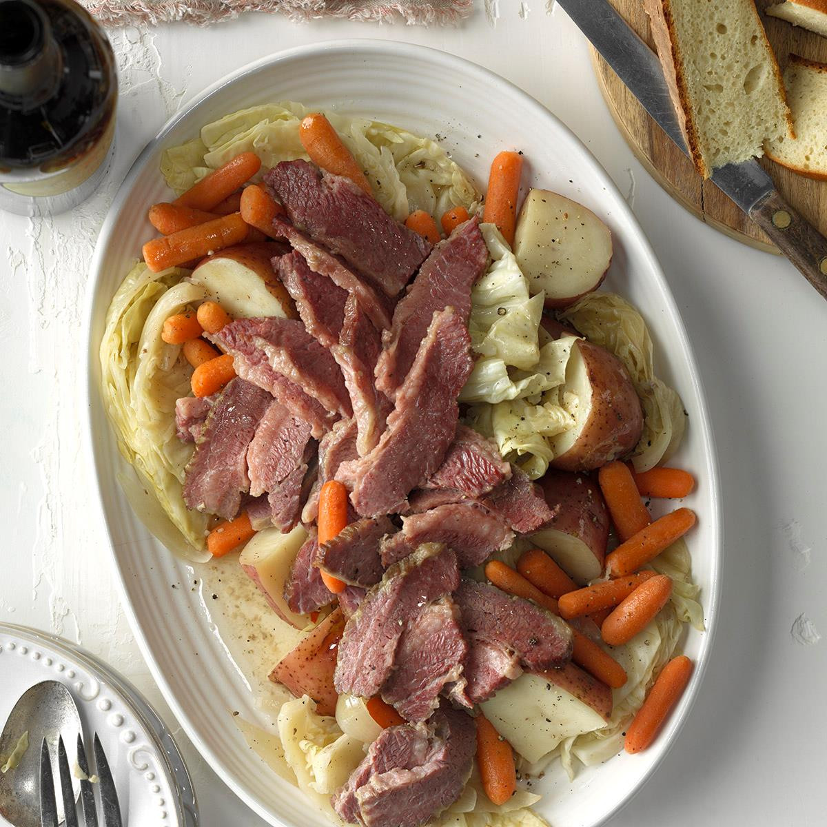 Easy Corned Beef And Cabbage  Easy Corned Beef and Cabbage Recipe