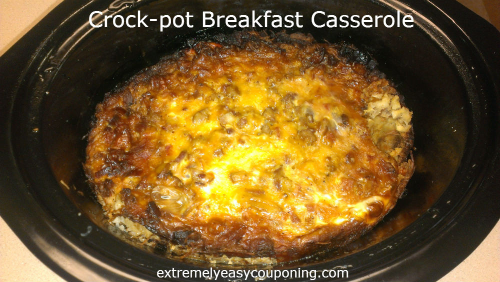 Easy Crockpot Breakfast Casseroles  Extremely Easy Couponing Crock pot Breakfast Casserole Recipe