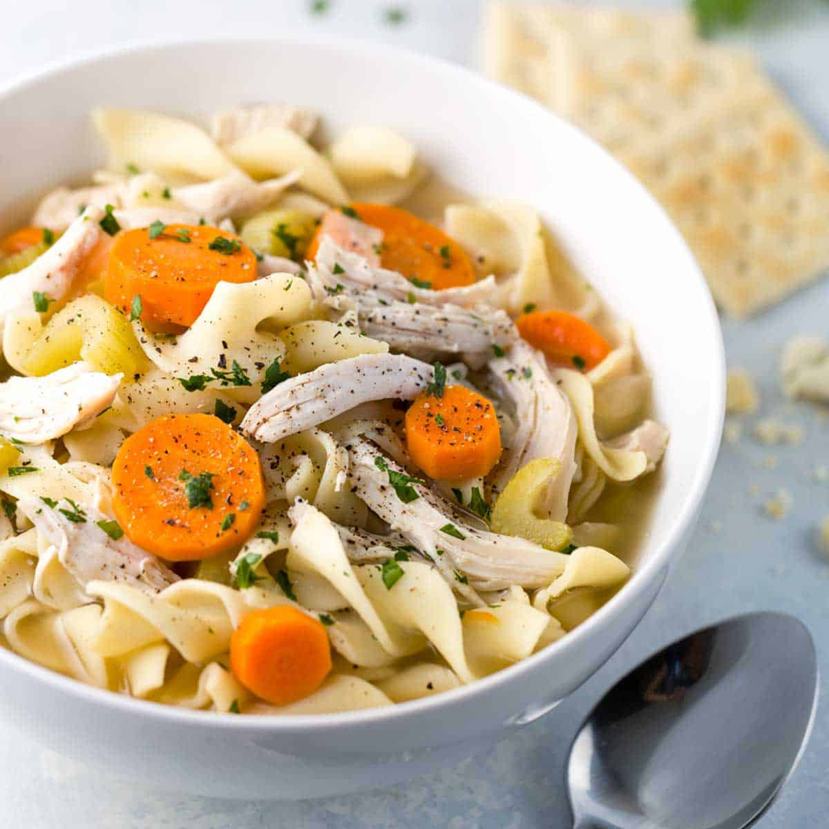 Easy Crockpot Chicken Noodle Soup  Easy Slow Cooker Chicken Noodle Soup Recipe