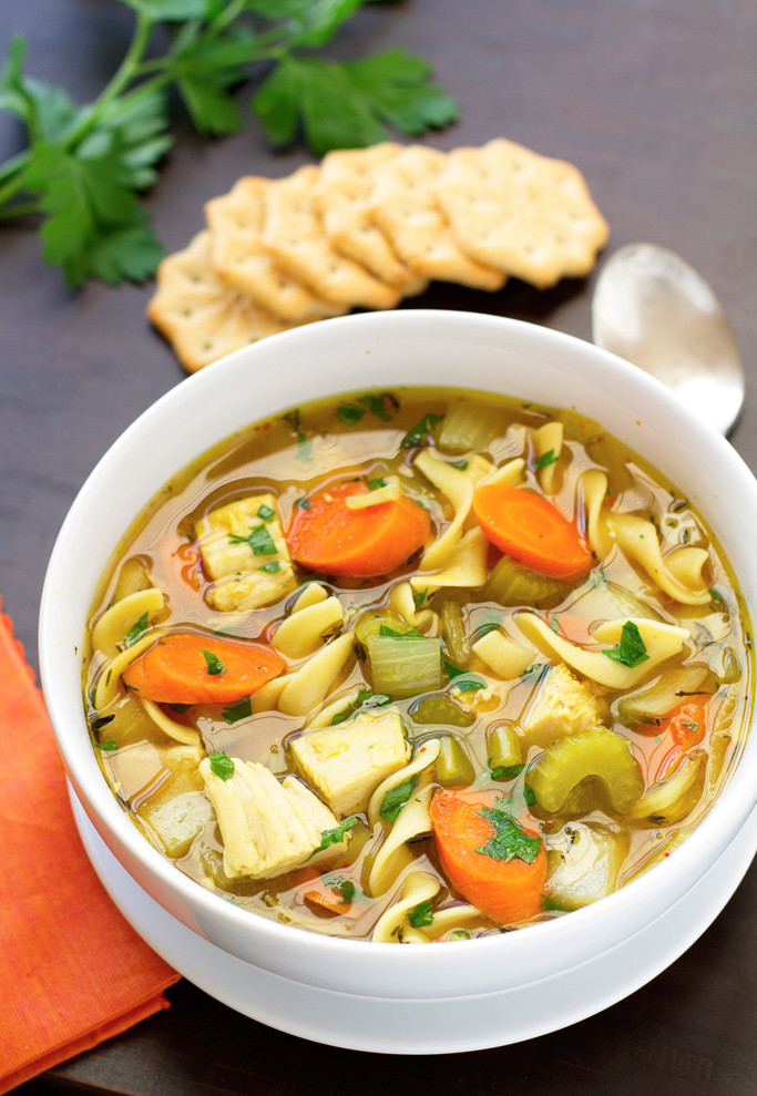Easy Crockpot Chicken Noodle Soup  Chicken Noodle Soup Slow Cooker Recipe