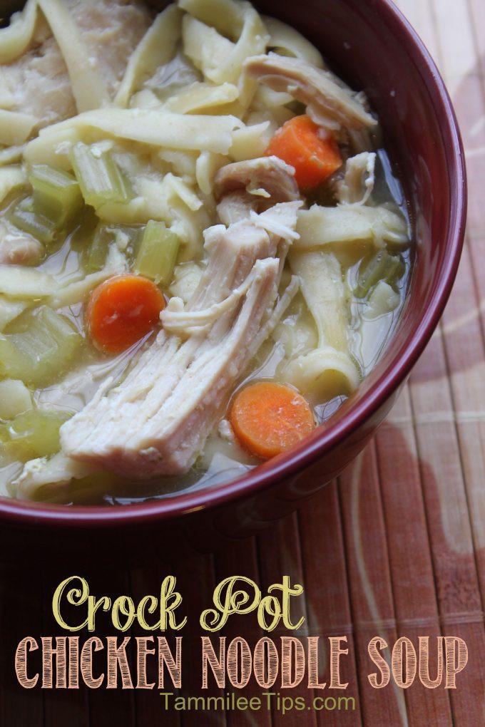 Easy Crockpot Chicken Noodle Soup  Crock Pot Chicken Noodle Soup