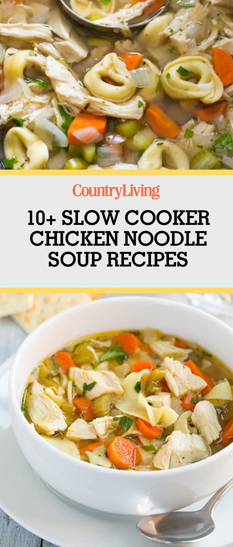 Easy Crockpot Chicken Noodle Soup  11 Easy Crock Pot Chicken Noodle Soup Recipes Best Slow