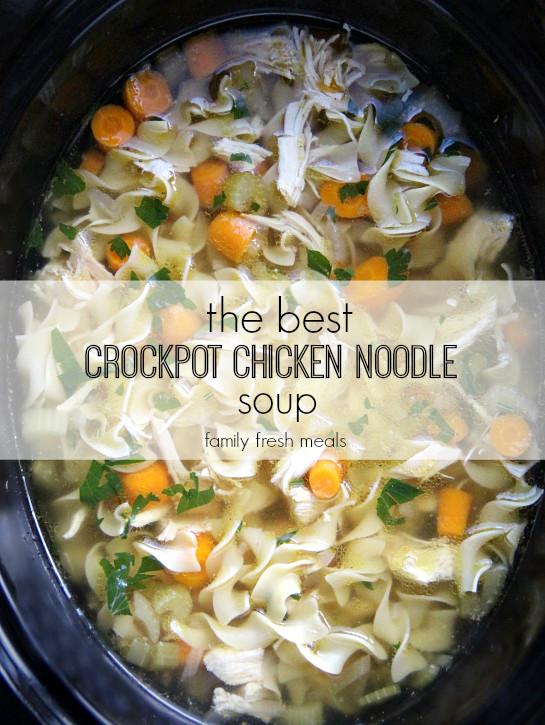 Easy Crockpot Chicken Noodle Soup  The Best Crockpot Chicken Noodle Soup Family Fresh Meals