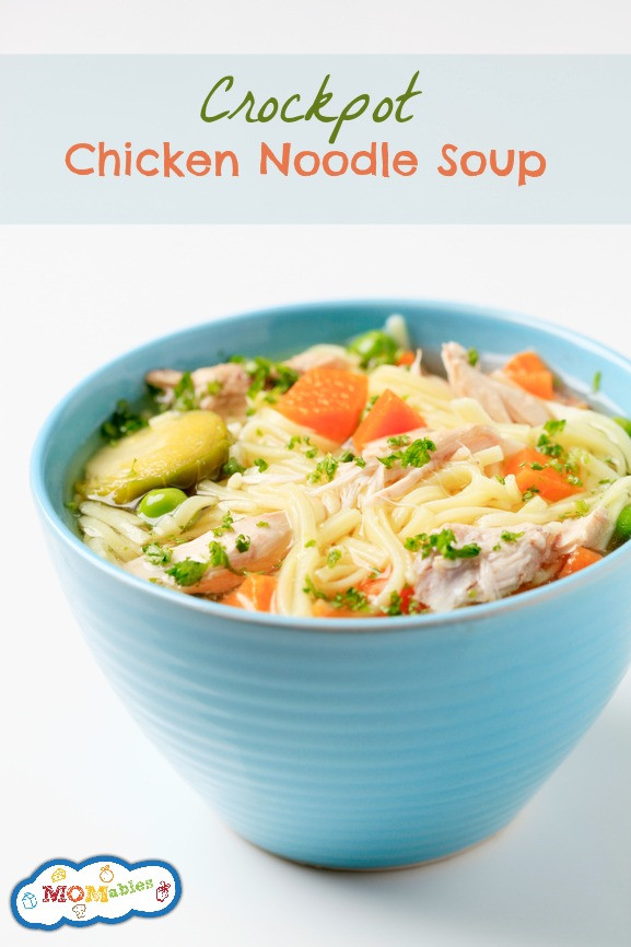 Easy Crockpot Chicken Noodle Soup  Crockpot Chicken Noodle Soup Recipe