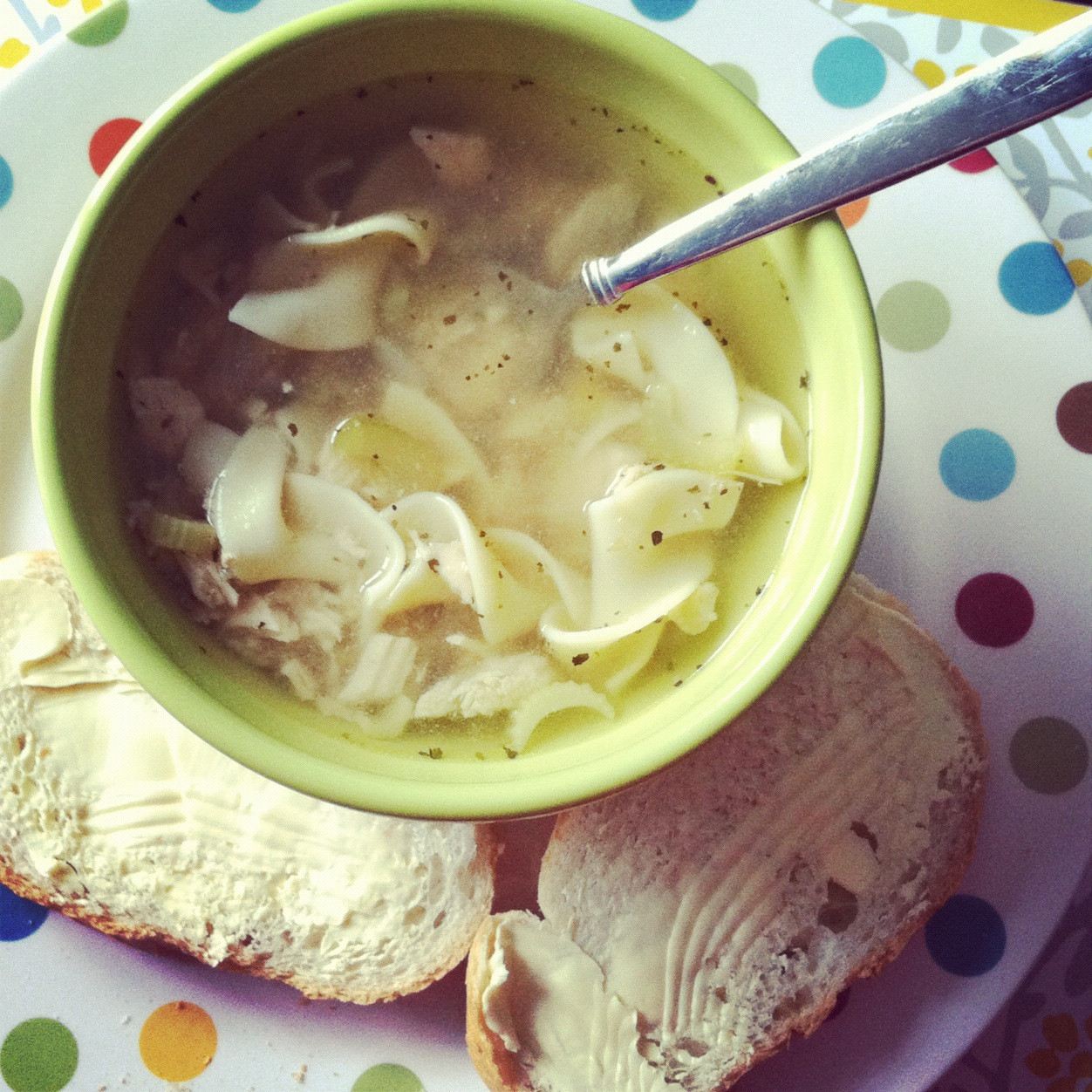 Easy Crockpot Chicken Noodle Soup  Little Bit Funky failproof easy delicious chicken noodle