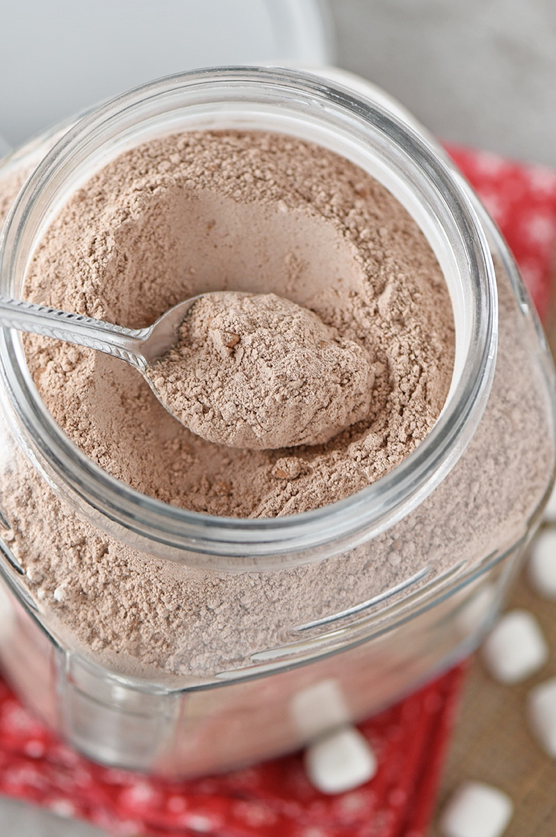 Easy Crockpot Hot Chocolate With Cocoa Powder  Homemade Hot Chocolate Mix Adventures of Mel