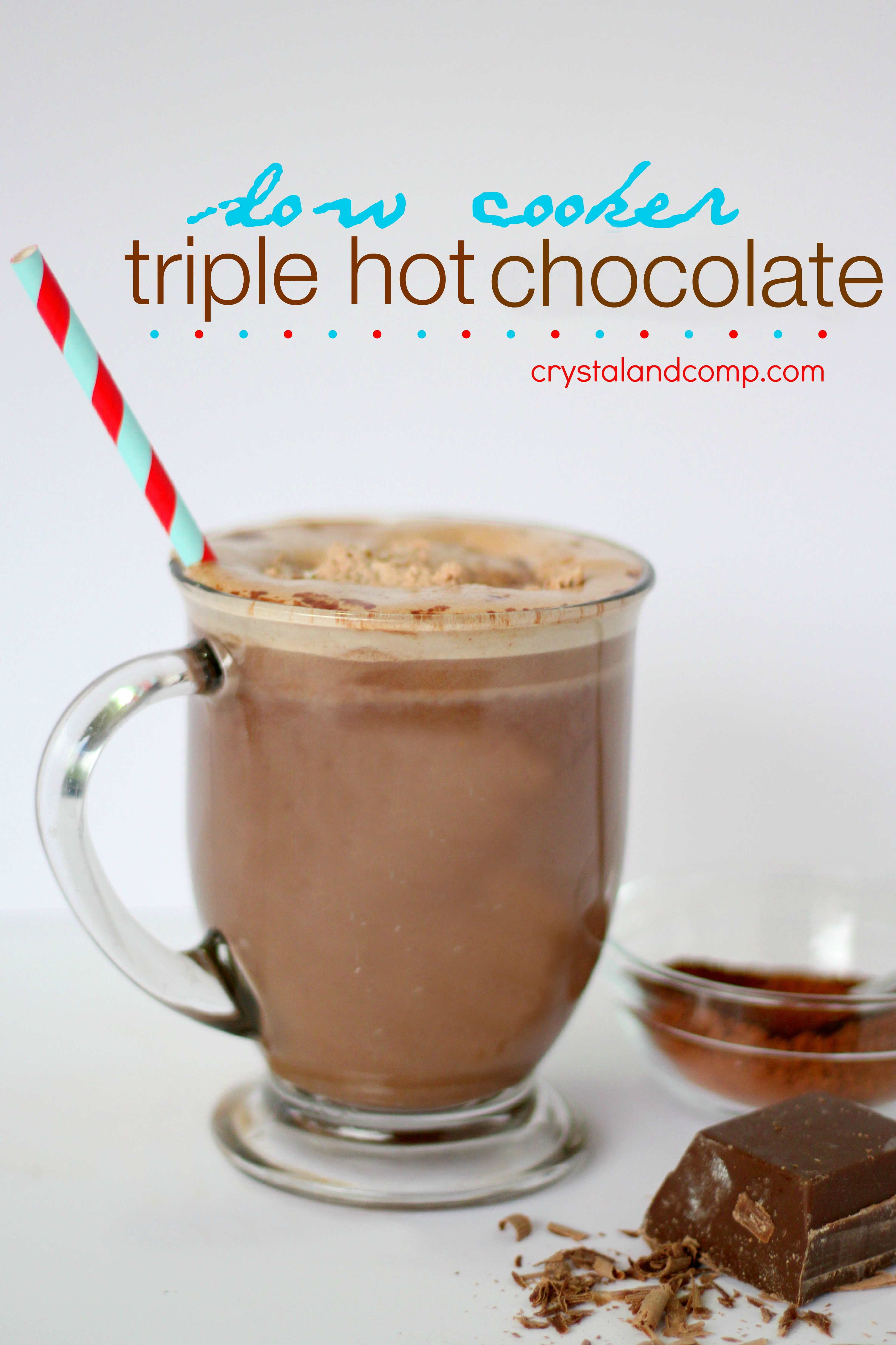 Easy Crockpot Hot Chocolate With Cocoa Powder  Crockpot Hot Chocolate
