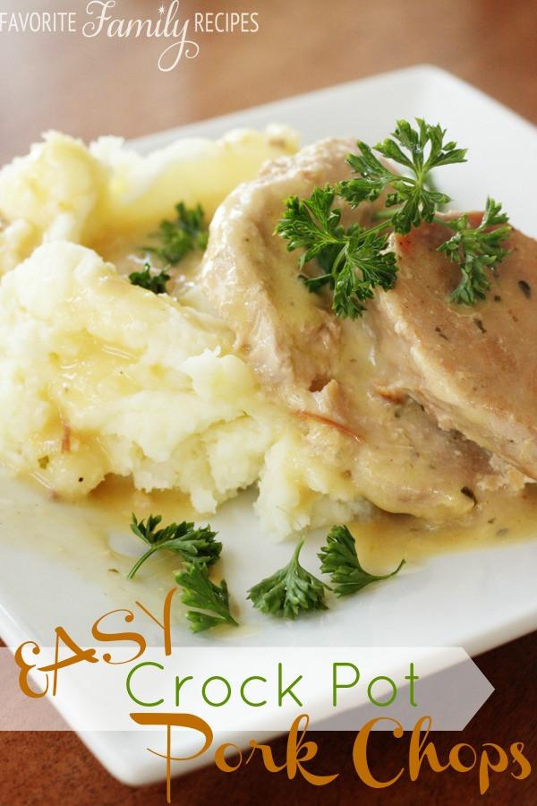Easy Crockpot Pork Chops  5 Ingre nts or Less Slow Cooker Recipes