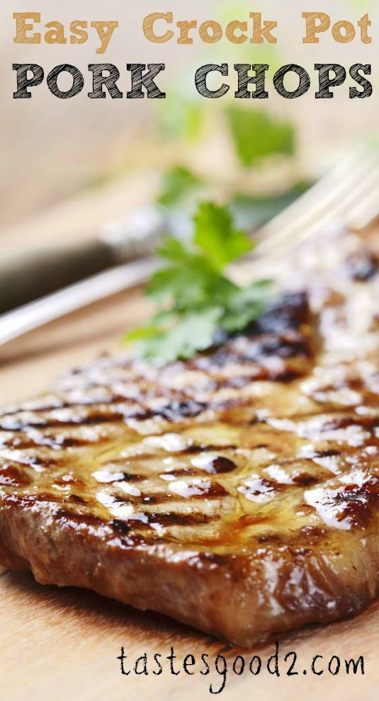 Easy Crockpot Pork Chops  Crock Pot Pork Chops cream of chicken and ranch dry