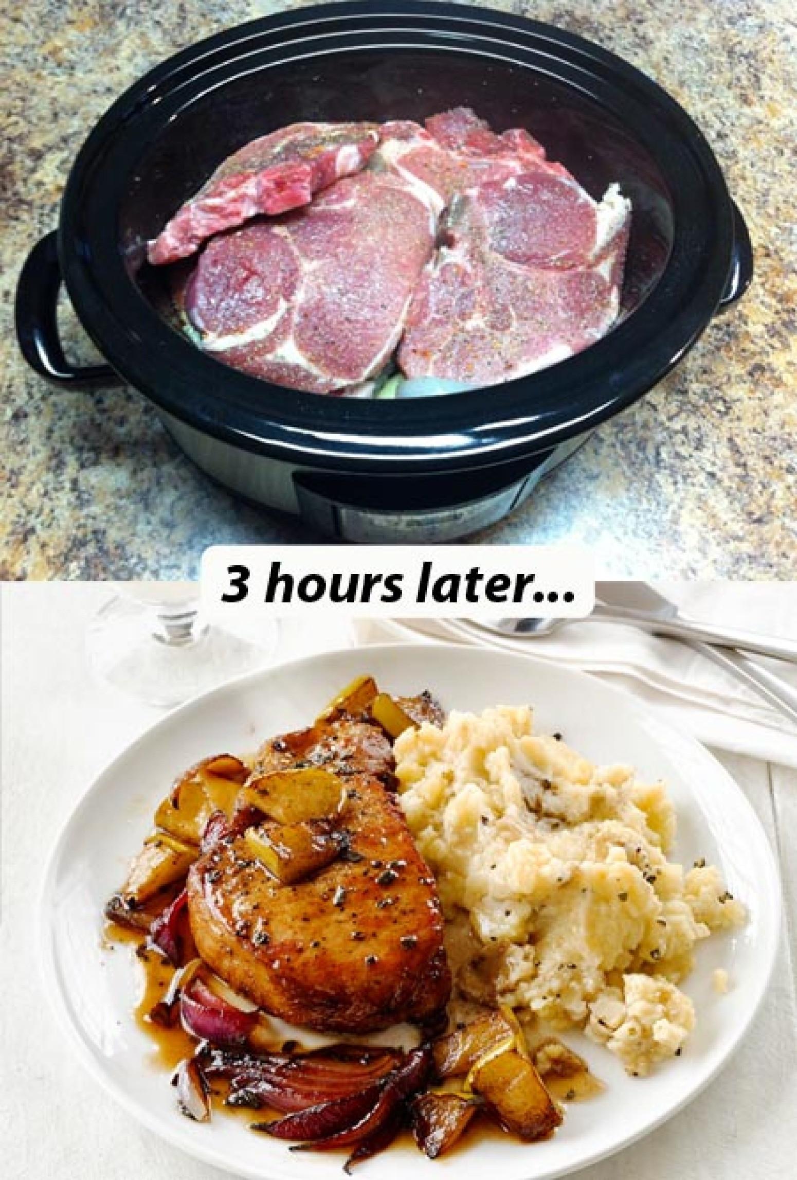 Easy Crockpot Pork Chops  Easy Crock Pot Pork Chops with Veggies Recipe 2