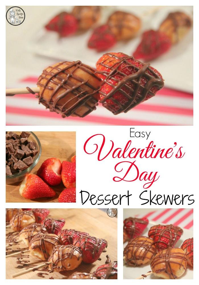 Easy Desserts For Kids  Easy Valentine s Day Dessert Skewers Kids Recipe Box
