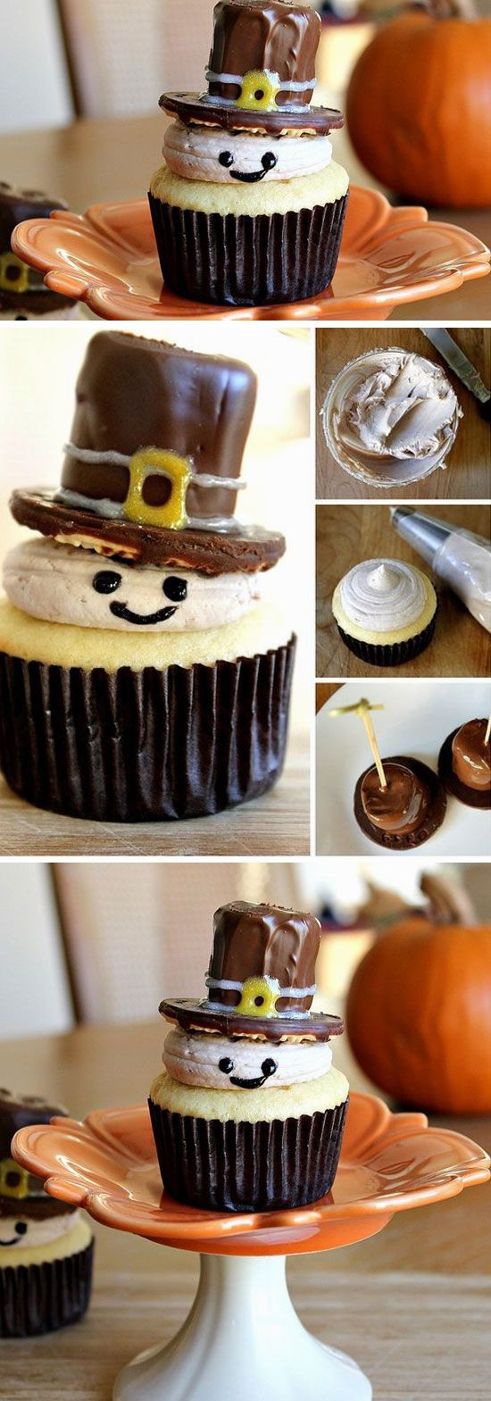 Easy Desserts For Kids  Pilgrim Cupcakes