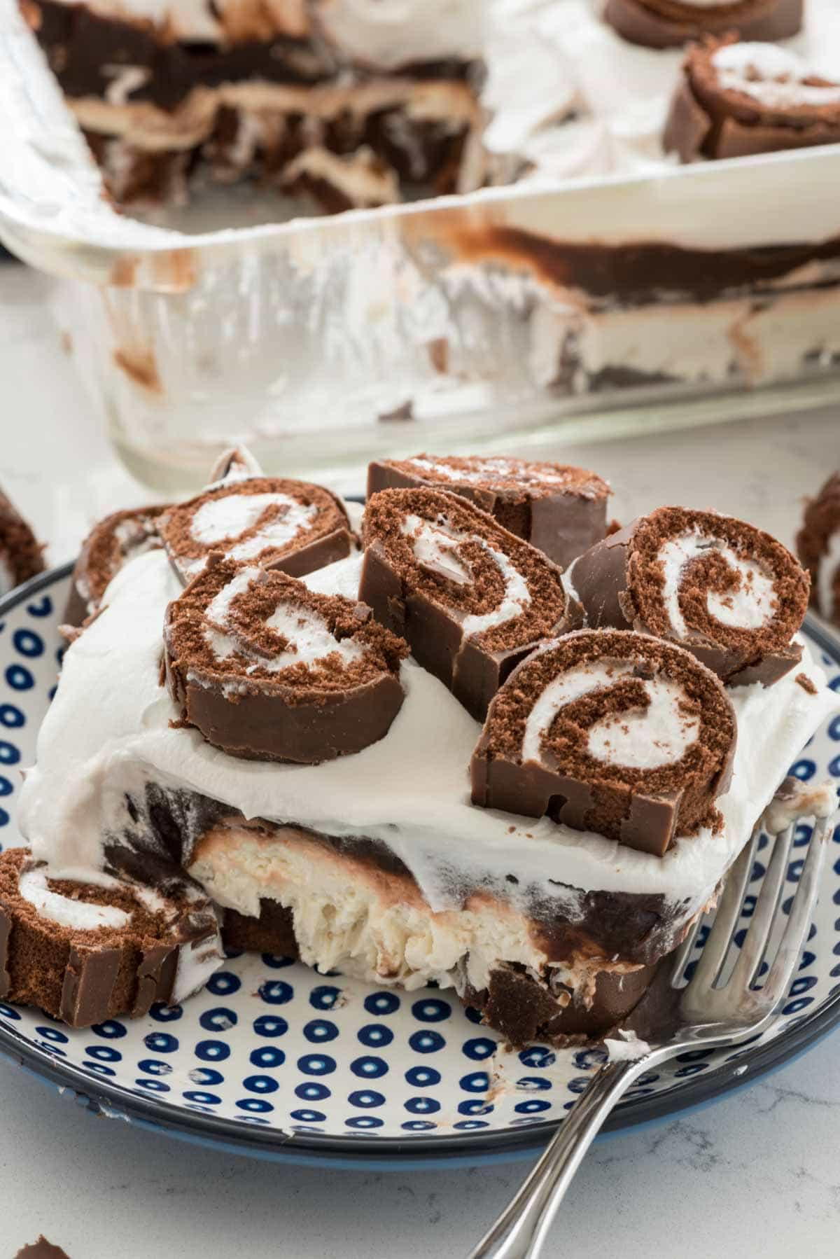 Easy Desserts To Bake  Swiss Roll Layered No Bake Dessert Crazy for Crust