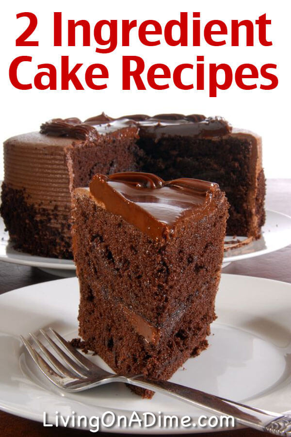 Easy Desserts With Few Ingredients  Easy Two Ingre nt Cake Recipes