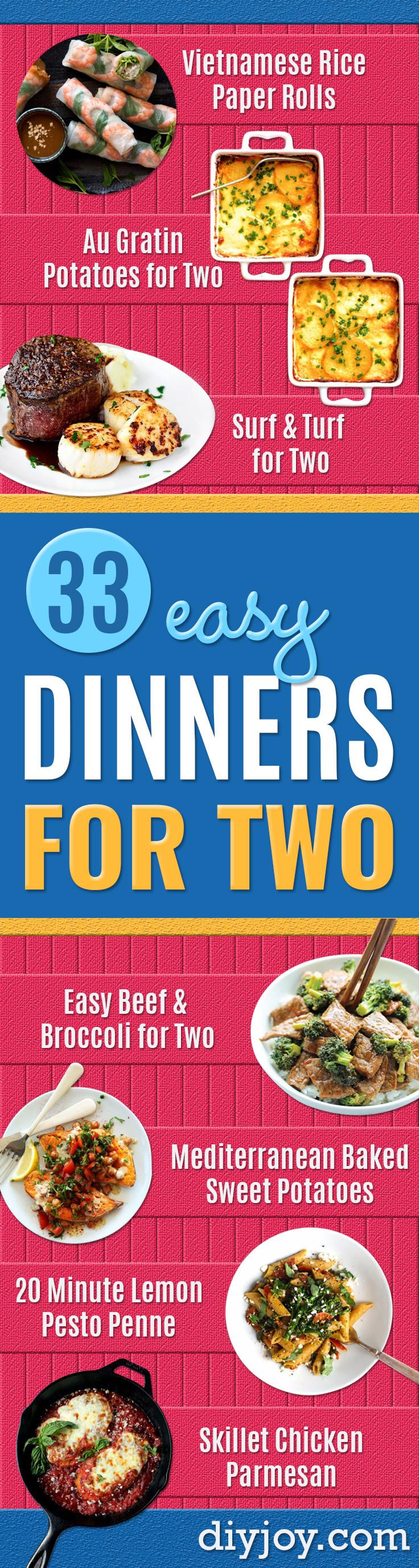 Easy Dinner For Two  33 Easy Dinner Recipes For Two