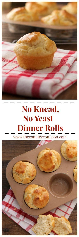 Easy Dinner Rolls No Yeast  Best 25 No yeast dinner rolls ideas on Pinterest