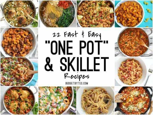 Easy Dinners For One  22 Fast and Easy e Pot Meals Bud Bytes