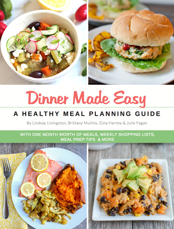 Easy Dinners For One  Healthy Dinner Meal Plan e Month of Healthy Dinners