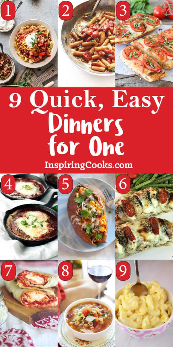 Easy Dinners For One  9 Quick & Easy Single Dinner Recipes for e Person