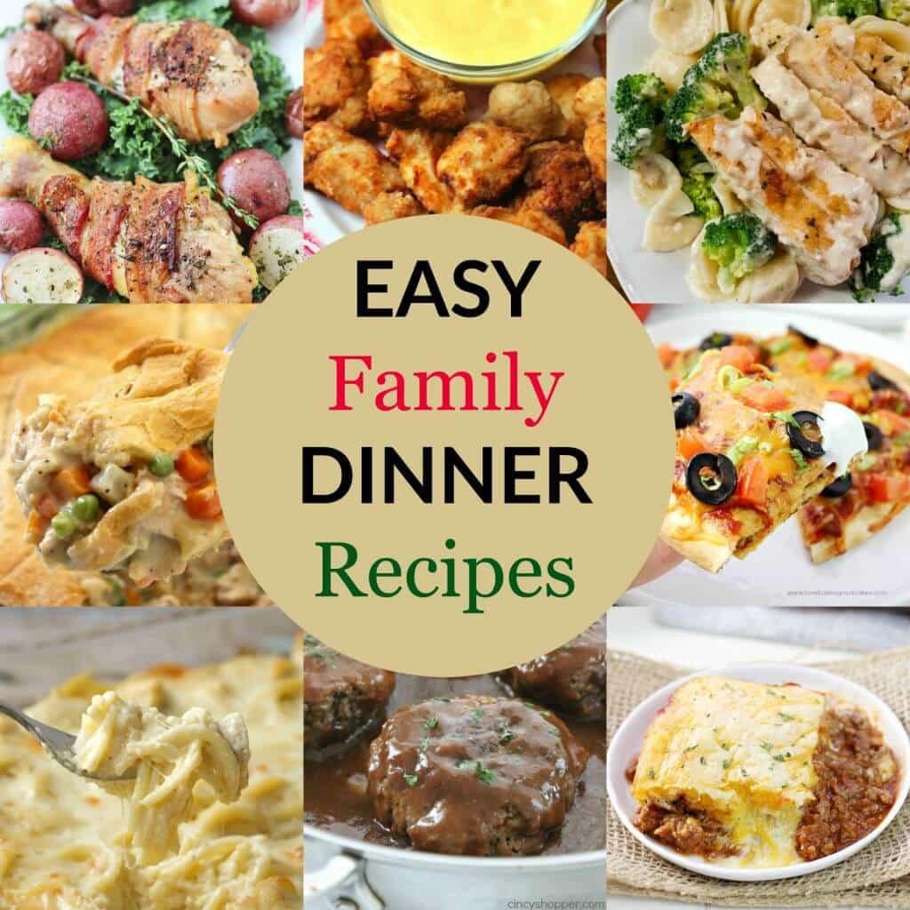 Easy Dinners Ideas For Family  Easy Family Dinner Recipes