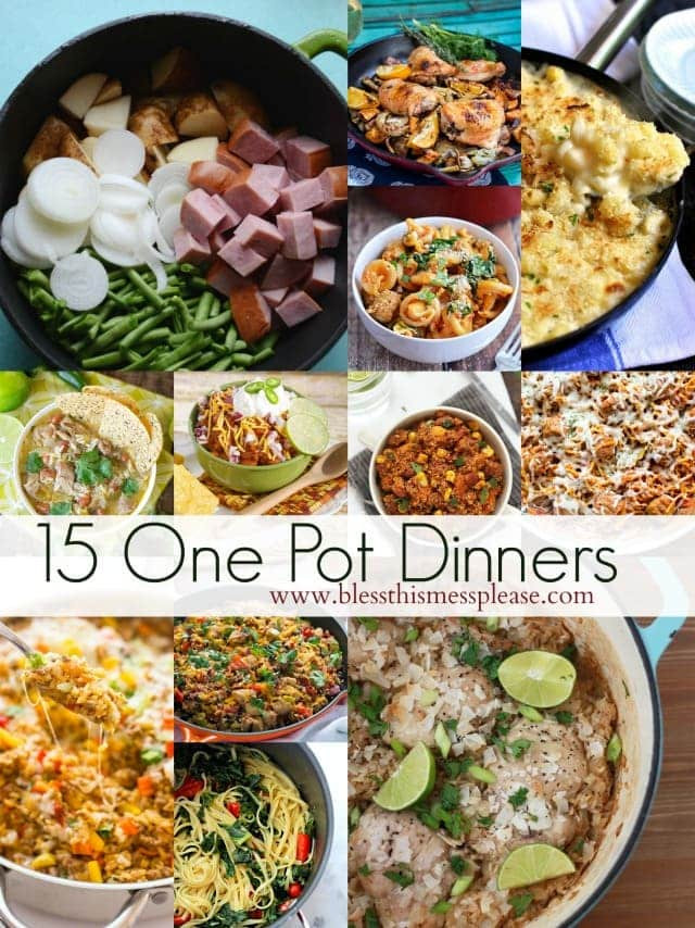 Easy Dinners Ideas For Family  15 Simple e Pot Dinner Ideas Bless This Mess