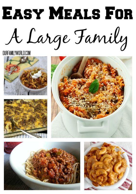 Easy Dinners Ideas For Family  Best 25 family meals ideas on Pinterest