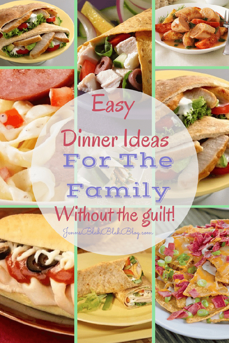 Easy Dinners Ideas For Family  Easy Dinner Ideas For The Family that are Guilt Free