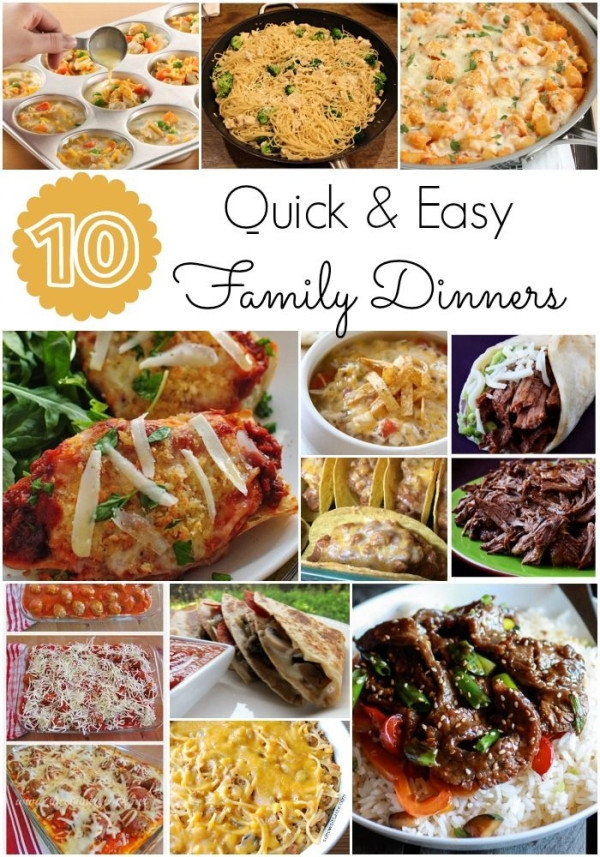 Easy Dinners Ideas For Family  Quick and easy family dinners I am always looking for