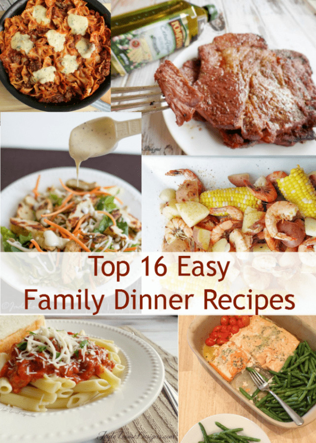 Easy Dinners Ideas For Family  Top 16 Easy Dinner Recipes for the family
