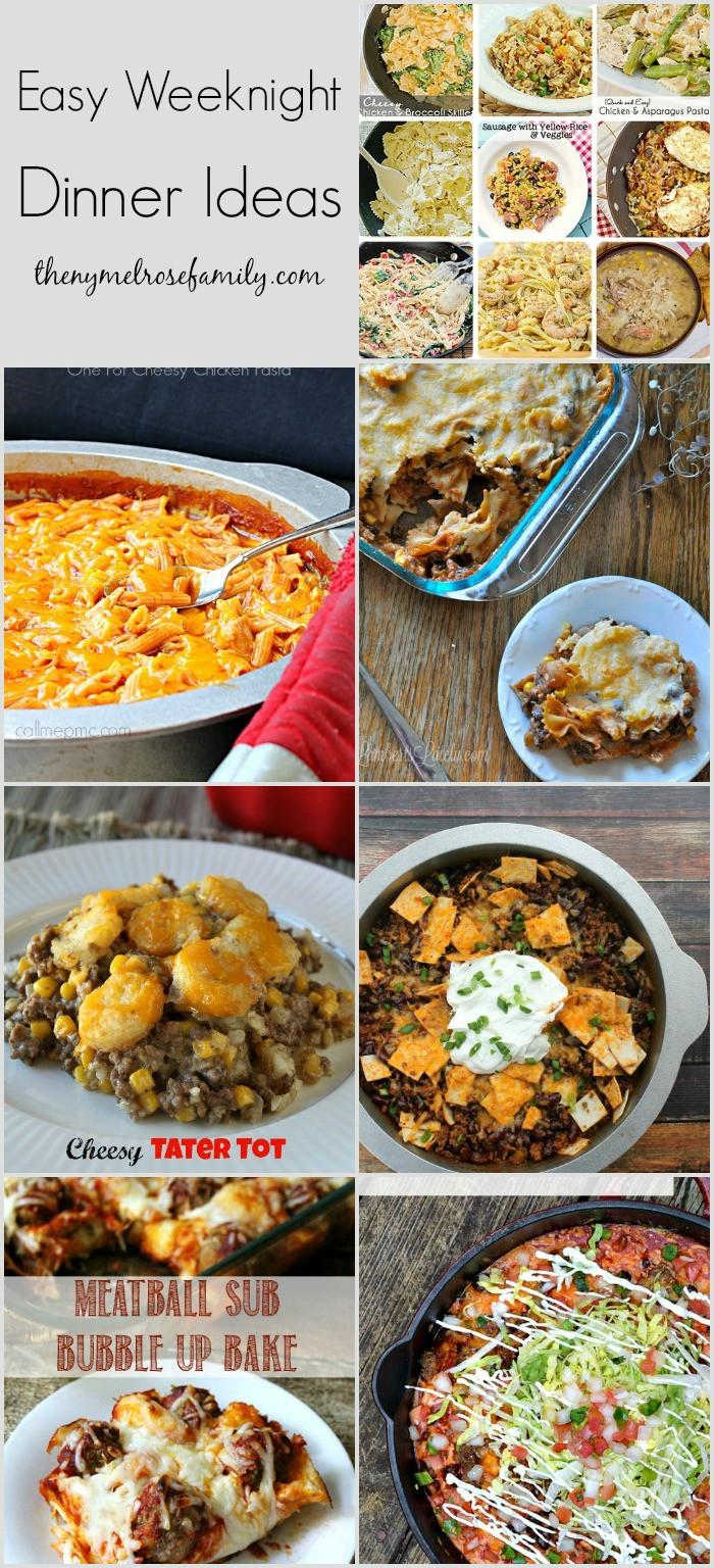 Easy Dinners Ideas For Family  Easy Weeknight Dinner Ideas