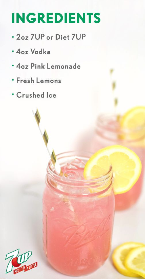 Easy Drinks With Vodka  Easy Adult Pink Lemonade Recipe