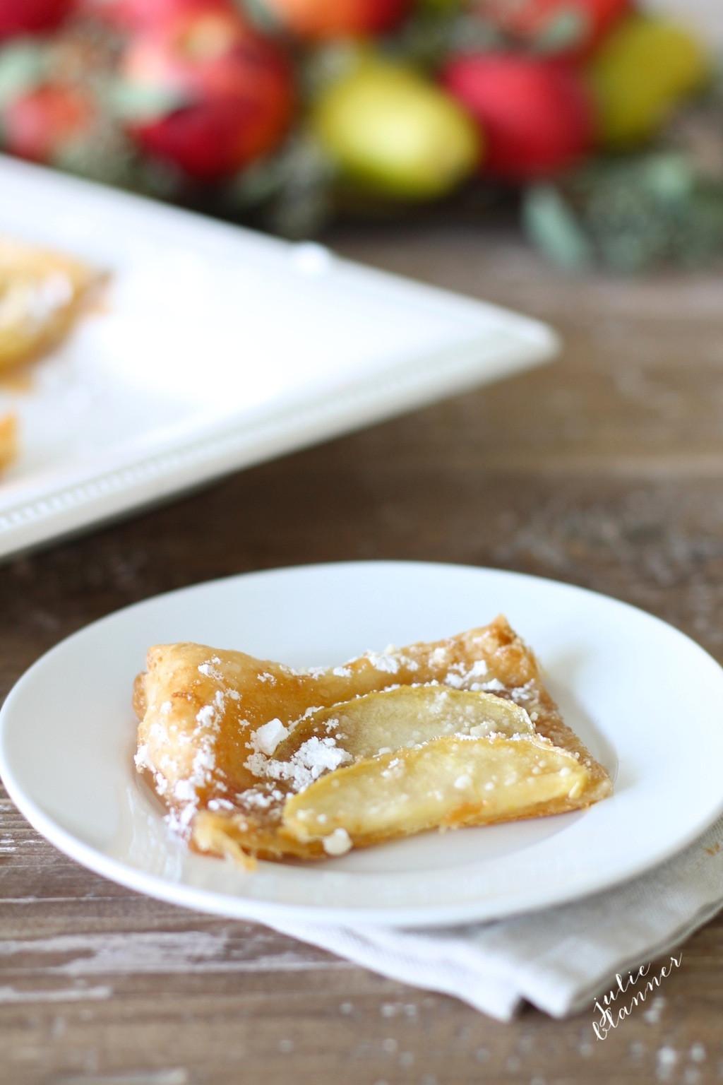 Easy Fall Desserts  5 Minute Skinny Apple Tart Recipe