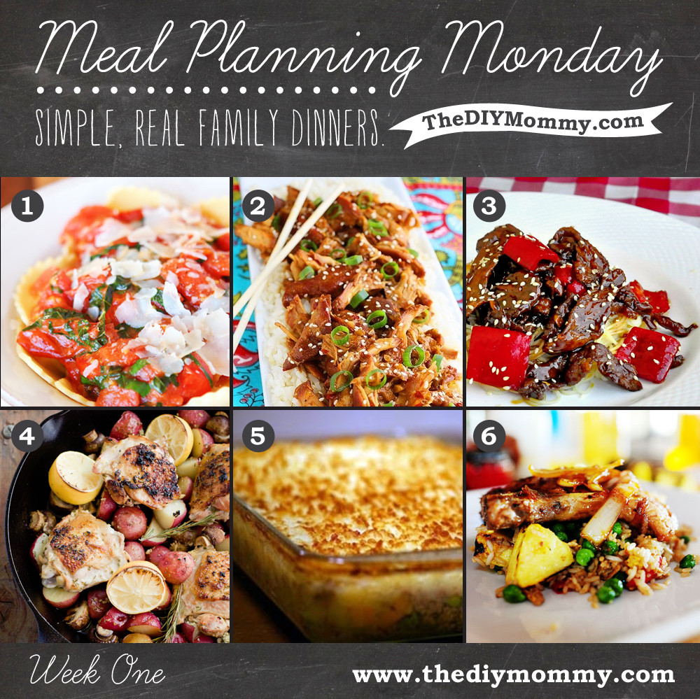 Easy Family Dinners  Simple Real Food Family Dinner Meal Plan Week e